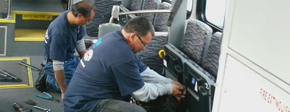 CCW Installs Q'Pod Seating System for Napa Transit