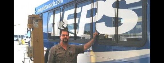 CLEAN BUSES: Riverside company wins clean air award